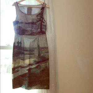 Anthropologie Odille Landscape Painting Dress